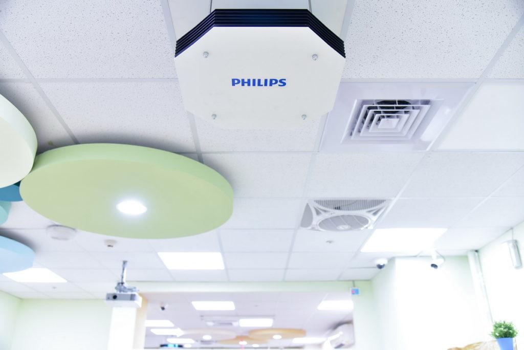 飛利浦UV-C 紫外線光消毒的力量,可針對空氣、表面及物體完整清消(昕諾飛提供)
