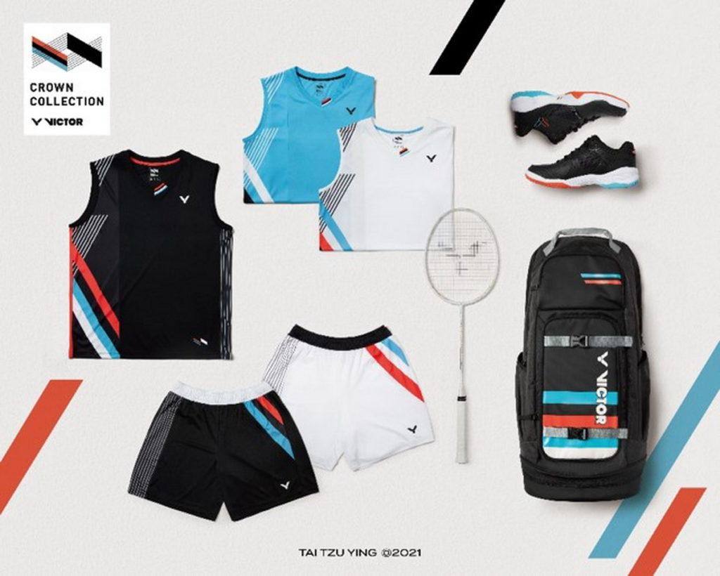 CROWN COLLECTION系列致力於突破傳統羽球服飾框架,以球后戴資穎的獨特形象及精神為設計靈感來源