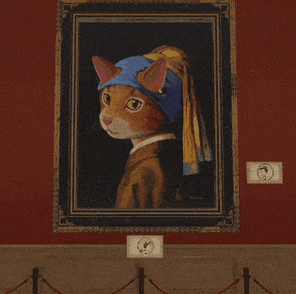 想聽《戴珍珠耳環的少女貓》開口說話?