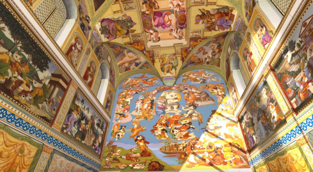 貓斯汀大教堂」首次展出 124 幅完整畫作,完美重現教堂磅礴壁畫!