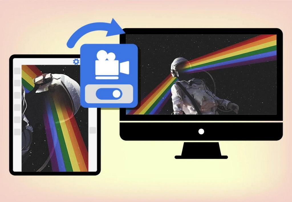 畫布投影功能協助創作者在大螢幕上即時分享畫面或與他人共同合作。