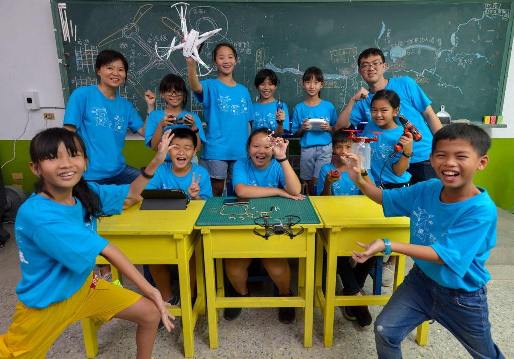 彰化水尾國小水噹噹無人機隊 藉追夢計畫將夢想分享給19所濁水溪沿岸小學