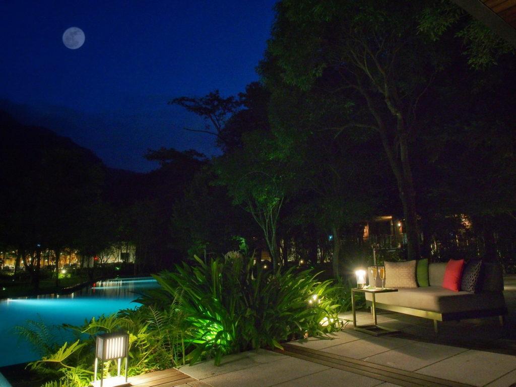 【虹夕諾雅 谷關HOSHINOYA Guguan】「幻月中秋」概念照‧ Moon festival image