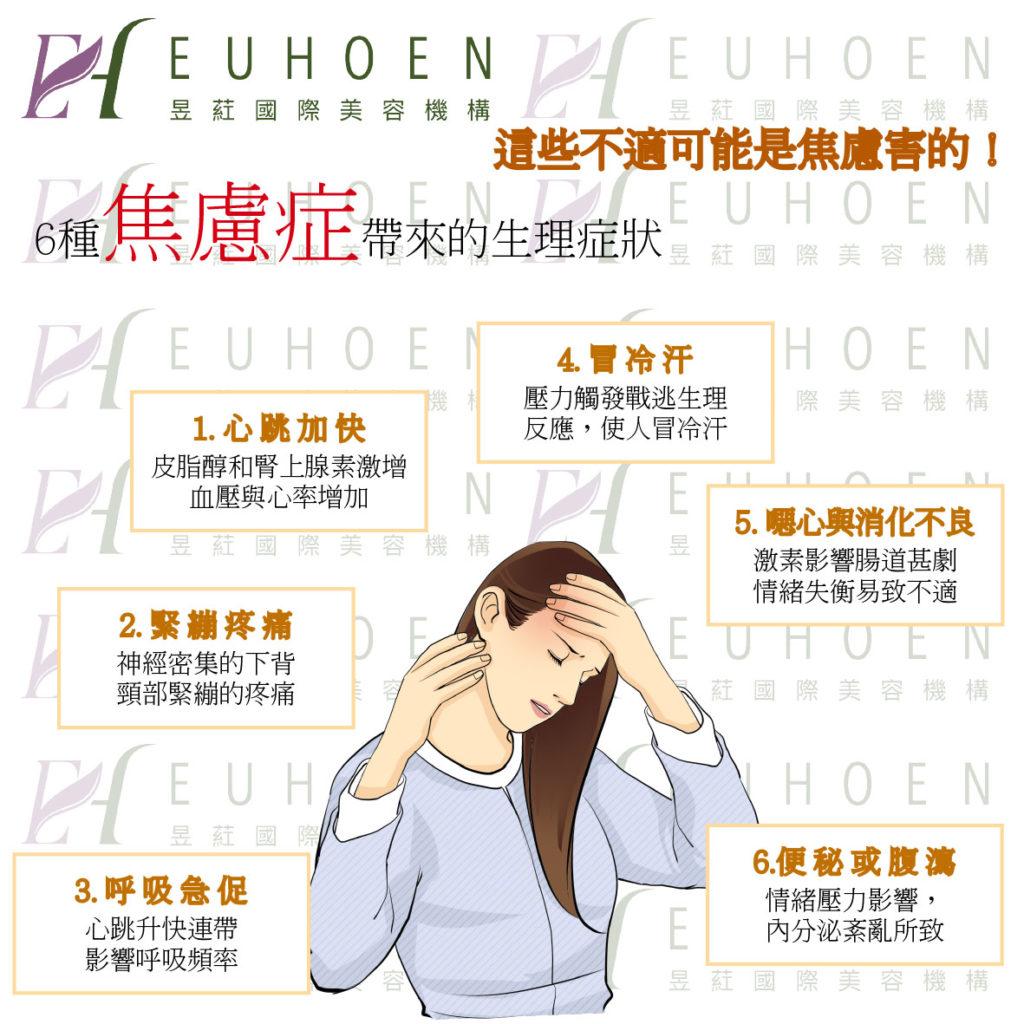 六種焦慮的生理現象(圖片提供: 昱葒國際 )