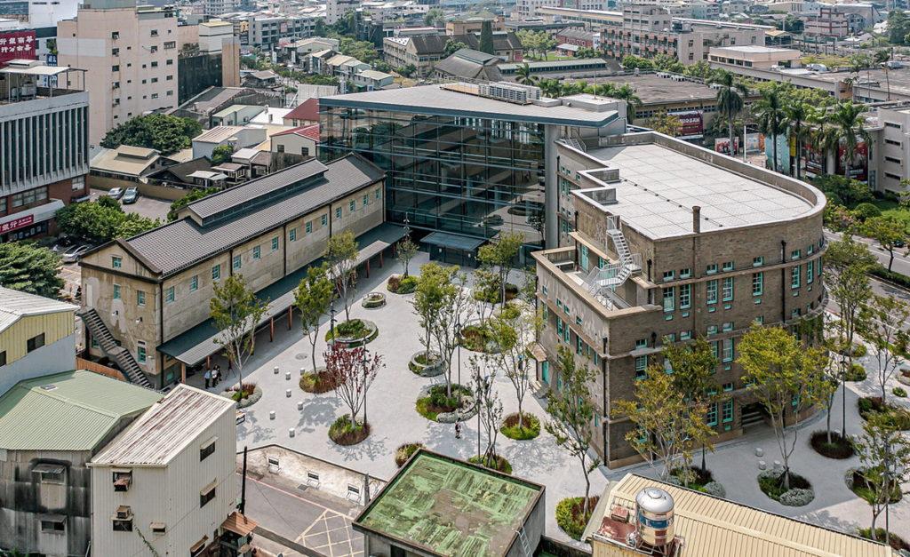 空拍照:廣寧街側_照片嘉義市立美術館提供,攝影師朱逸文