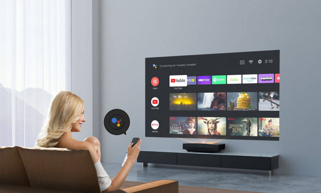 Android TV 10 系統,支援多國語言與注音輸入