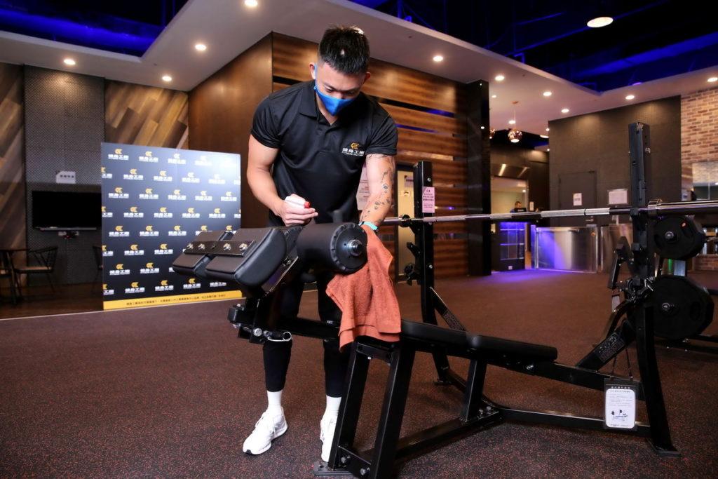 健身工廠做好高規格防疫迎接回歸運動的民眾。