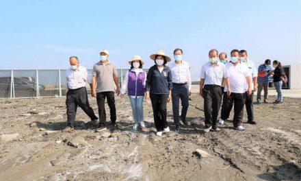雲林縣口湖鄉殼貝類暫置區供蚵貝殼暫置 固沙防塵紡織農地膜資源永續利用