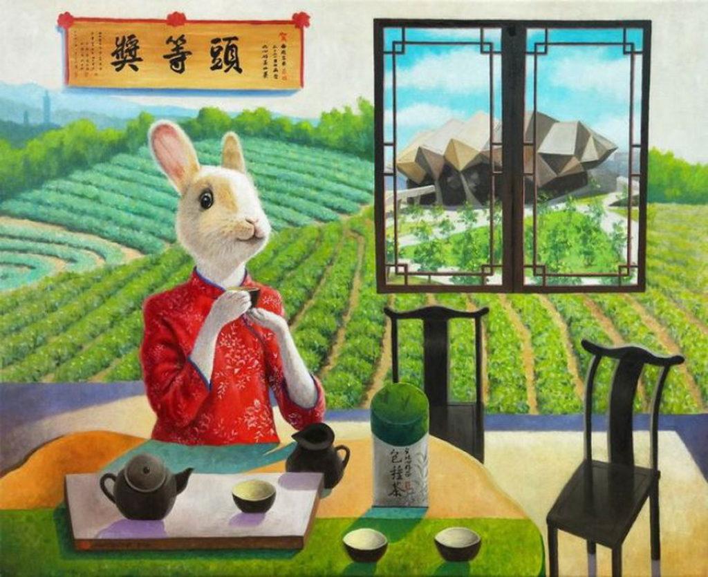 鍾功哲 老師 〈 台灣好茶 〉15F  油畫