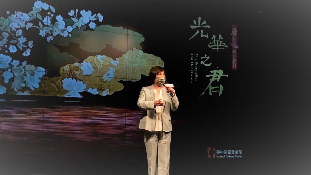 唐美雲飾演光華君,現場精彩演出片段。(圖/陳惠玲攝影)