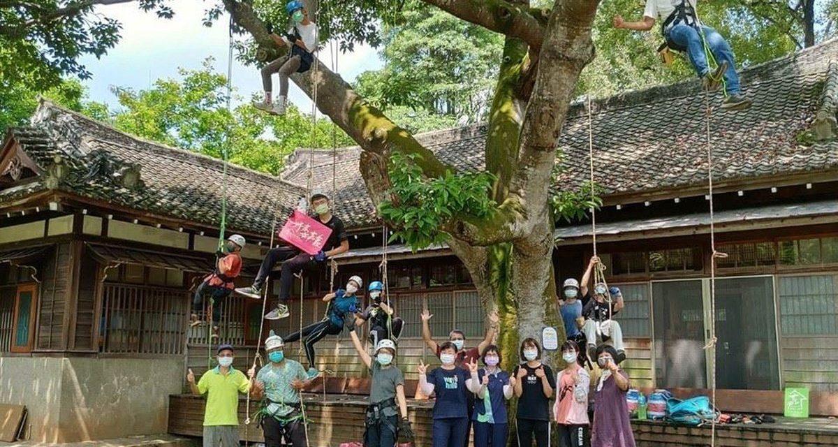 愛樹攀樹學修樹  嘉義市環保局社區規劃師新體驗、累積愛木愛樹能量